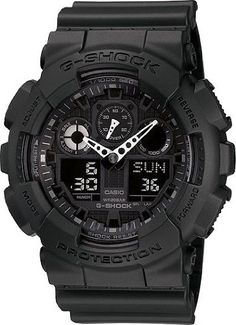 G-SHOCK The GA 100 Military Series Watch in Black,Watches for Men - http://www.gadgets-magazine.com/g-shock-the-ga-100-military-series-watch-in-blackwatches-for-men/