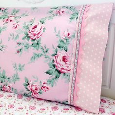 Sew this gorgeous pillowcase for your little girl's bedroom makeover. Trims and lace make this project special! Easy step-by-step tutorial.