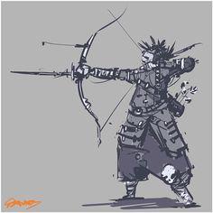 Tribal archer 2/3 #sketchbook #sketch #inktober #ink #doodle #conceptart…