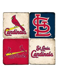Genuine Merchandise St Louis Cardinals Coasters (Set of 4) by Studio Vertu at Gilt