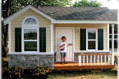Stonework, shutters playhouse