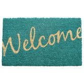 Found it at Wayfair - Cursive Welcome Non Slip Coir Doormat