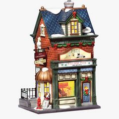"""Department 56: Products - """"Village Pets - Sales & Service"""" - View Lighted Buildings"""