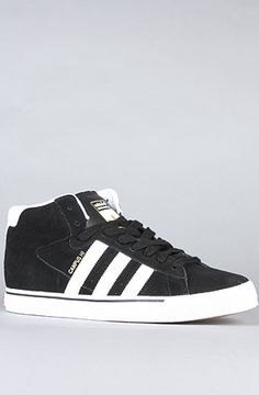 brand new 69ee4 2b5b3  BrickHarbor The Campus Vulc Mid Sneaker in Black 1, Running White,    Metallic Gold by Adidas Skateboarding Use rep code XLOOP for 20% off  Retail  70.00