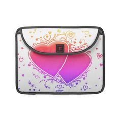 Two Multicolored Hearts Sleeves For MacBook Pro    *This design is available on several other products.