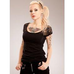 Tee-shirt gothique rock Vixxsin (Evil Clothing)
