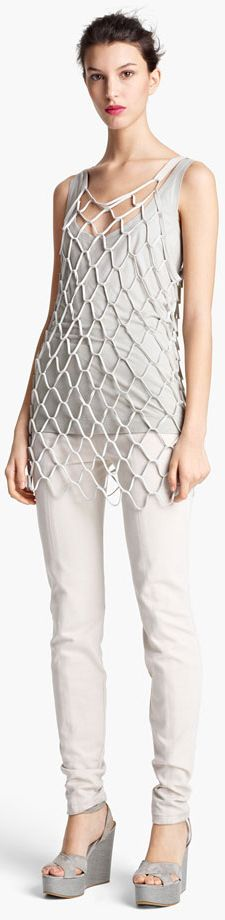 Donna Karan Suede Net Tank. Looks like a giant basketball net.