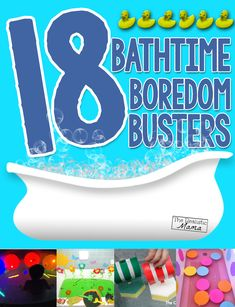 18 Bath time Boredom Busters via The Realistic Mama Craft Activities For Kids, Infant Activities, Learning Activities, Kids Learning, Kids Crafts, Kids Diy, Toddler Play, Toddler Preschool, Rainy Day Fun