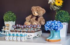 Tema Urso - azul e marrom