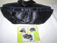 New Purse Organizer Travel Make Up Bag Key Hook Black Small Medium Reversible