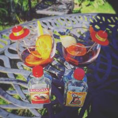Flashback to when it was warm and we made the parents sangria in the garden