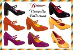 Noir Violet Orange ou Jaune ?  Chaussures Escarpins Pin-Up 50s 60s Yéyé Mary Jane Golden Years  http://www.belldandy.fr/catalogsearch/result/?q=bnd144 https://www.facebook.com/belldandy.fr/photos/a.338099729399.185032.327001919399/10154619194439400/?type=3