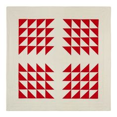 Friend and fellow Seattle Modern Quilt Guild member Season Evans has a new collection of quilts. Small Quilts, Mini Quilts, Half Square Triangle Quilts Pattern, Flying Geese Quilt, Two Color Quilts, Red And White Quilts, Quilt Modernen, Contemporary Quilts, Barn Quilts