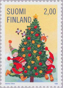 Children dancing around the christmas tree , (Christmas . Christmas Photos, Christmas Themes, Vintage Christmas, Christmas Crafts, Commemorative Stamps, Old Stamps, Stamp Collecting, Mail Art, Postage Stamps