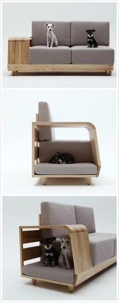 Here's one way to keep pets off of the furniture!