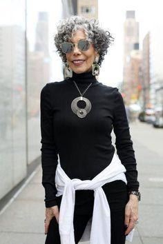 Rubin (Advanced Style) The post Alida Rubin appeared first on Advanced Style.The post Alida Rubin appeared first on Advanced Style. Grey Curly Hair, Silver Grey Hair, Short Grey Hair, Curly Hair Cuts, Curly Hair Styles, Natural Hair Styles, Curly Short, Curly Bob, Thick Hair