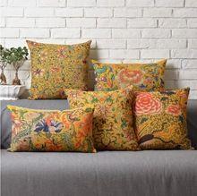 Kolorowe mody żółty kwiat poduszki/almofadas przypadku nowoczesne nordic dekoracyjne rzut poduszki obicia domu decore(China (Mainland))