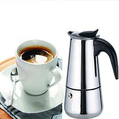 Eachbid Smart applied 2 Cup Stainless Steel Moka Espresso Latte Percolator Stove Top Coffee Maker Pot * Review more details @ http://www.amazon.com/gp/product/B00OTG2ZFY/?tag=lizloveshoes-20&pbc=190816001539