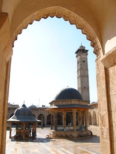 Great Mosque of Aleppo, Syria, 2006. Photo by Dianne Ket