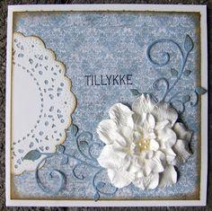 Kort med hjemmelavede blomster