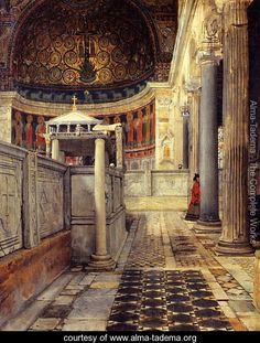 Interior Of The Church Of San Clemente Rome Sir Lawrence Alma-Tadema