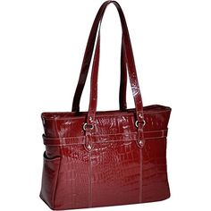 Siamod SERRA Leather Ladies 15 Laptop Tote Womens Computer Briefcase in Red ** Want to know more, click on the affiliate link Amazon.com.