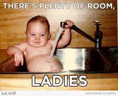There's plenty of room, ladies.