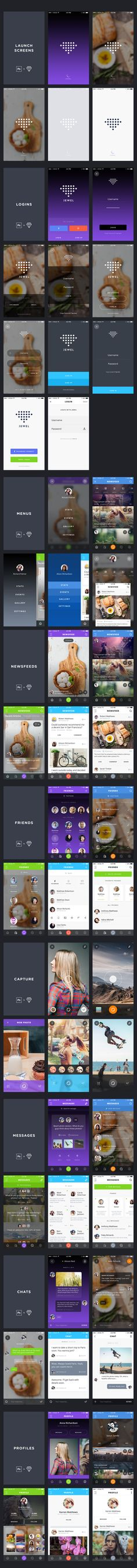 Jewel - The Complete iOS UI Kit by Ionut Zamfir on Creative Market