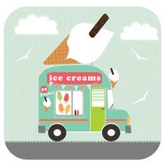 Ice Cream Truck - by Faye Gollaglee