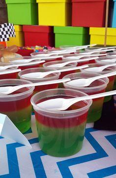 Traffic Light Jelly Cups