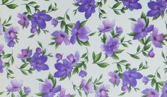Catalina Ultra Violet~Medium Floral on White~Cotton Fabric~Maywood Studio~Fast Shipping F616