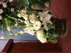 White Sympathy Floral Tribute
