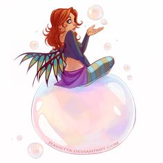 W.I.T.C.H.  all of them bubbles by Ravietta