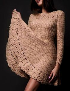 Fabulous Crochet a Little Black Crochet Dress Ideas. Georgeous Crochet a Little Black Crochet Dress Ideas. Crochet Beach Dress, Crochet Summer Dresses, Summer Dress Patterns, Filet Crochet, Crochet Stitches, Knit Crochet, Crochet Patterns, Crochet Books, Crochet Edgings