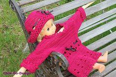 Oppskrift - Heklet babysett - genser og luehatt