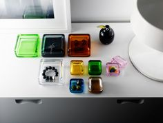 Love these beautiful glass storage boxes by Anu Penttinen for Iittala. Named Vitriini, Finnish for glass display cabinet, they're available in two sizes in all glass, or with wood or aluminum bases. Think of the possibilities! Glass Boxes, Scandinavian Home, Art Object, Storage Boxes, Still Life, Cool Designs, Sweet Home, Objects, Display