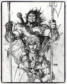 Red Sonja/Claw the Unconquered by Jim LeeYou can find Red sonja and more on our website.Red Sonja/Claw the Unconquered by Jim Lee Red Sonja, Comic Book Artists, Comic Artist, Comic Books Art, Illustrations, Illustration Art, Armadura Do Batman, Jim Lee Art, Drawing Sketches