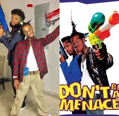 Don't be a menace trey and Chris are them hahahah Black Girl Halloween Costume, Halloween Costumes For Teens, Halloween Looks, Halloween Kids, Chris And Queen, Famous Youtubers, Popular People, Couple Outfits, How To Look Better