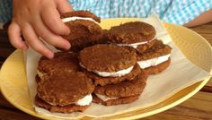 "Paleo and AIP ""N'oatmeal Creme Pies."" Based off of the Little Debbie cookies, but full of nutrients!"