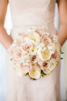 One of our all-time favorite bouquets from 2013 ~ from the Style Me Pretty Bouquet Gallery: http://www.StyleMePretty.com/gallery/tag/bouquet/  Photography: Rebecca Arthurs on SMP: http://www.StyleMePretty.com/2013/11/06/bristol-rhode-island-wedding-from-rebecca-arthurs/
