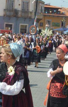 La procesión de la Virgen de la Blanca, en Nueva Llanes Asturias