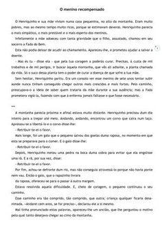 O menino recompensado - António Botto