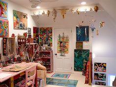my art studio-partial view by jenniferbeinhacker.com, via Flickr
