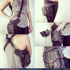 Very interesting leather sling/halter/pack.
