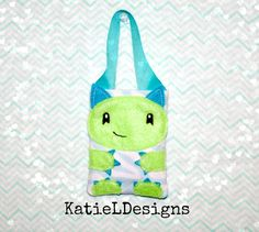 4x4 ITH Monster Bag Machine Embroidery Design by KatieLDesigns. Perfect for gift cards!