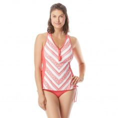 b26d36ab53 Beach House Erinna Racerback Zipper Front Tankini Top - Gypsea Tankini Top
