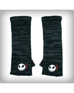 Nightmare Before Christmas Jack Grey & Black Arm Warmers.. I own these! <3