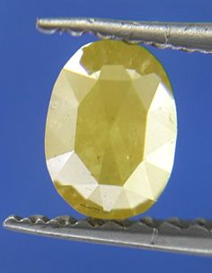 0.40TCW Yellow color Oval shape Rose cut African Antique Natural loose Diamond #SparklingFancyDiamonds