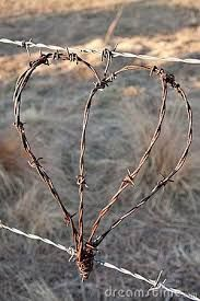 Image result for Barbed Wire Heart Alphabet