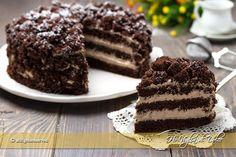 Torta mimosa al cioccolato la variante più golosa della tradizionale. Pan di spagna farcito con crema diplomatica al cioccolato, ricetta facile con passaggi
